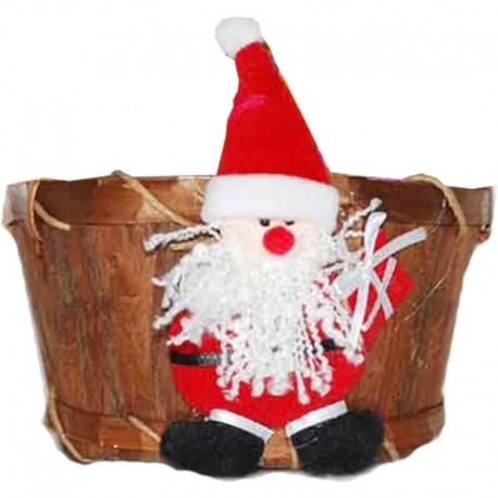 Mikulášsky darček v drevenom košíčku