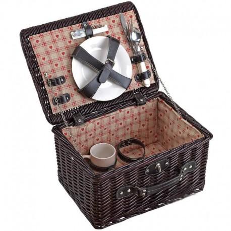 Prútený kôš na piknik pre rodinu