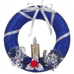 Závesný vianočný venček na dvere