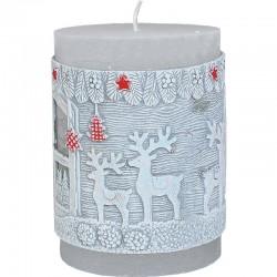 Vianočný stromček  s krajinkou - sviečka s LED diódou