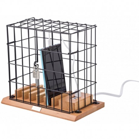 Klietka na mobily s nabíjacou stanicou