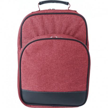 Červený piknikový batoh pre dvoch