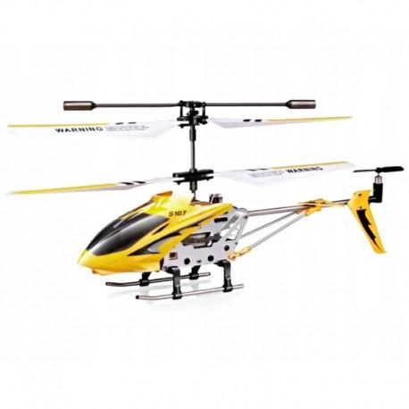 Vrtuľník na diaľkové ovládanie s gyroskopom - žltá, biela