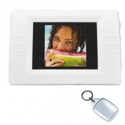Digitálny fotorámik s kľúčenkou na fotografie