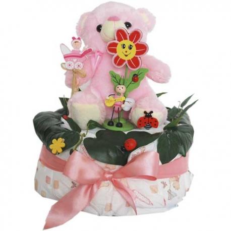 Torta z plienok pre dievčatko