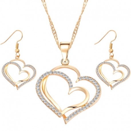 Súprava náhrdelník s náušničkami HEART