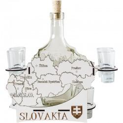 Mapa Slovensko so štamperlíkmi