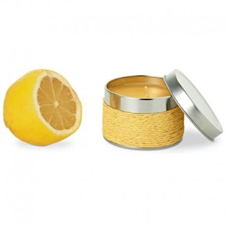 Dekoračná sviečka s vôňou citróna