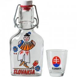 Slovenská ľudová fľaša s pohárikom