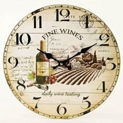 Hnedé nástenné hodiny GRAND