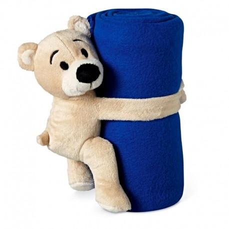 Modrá deka s medvedíkom