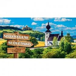 Stolový riadkový kalendár Spoznávame Slovensko 2022