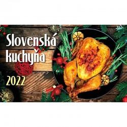 Stolný riadkový kalendár Slovenská kuchyňa 2022