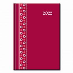 Denný diár  červený Folk 2022
