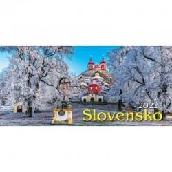 Riadkový stolový kalendár Slovensko 2022
