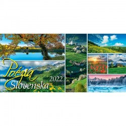 Stolný riadkový kalendár Poézia Slovenska 2022