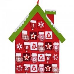 Adventný kalendár domček