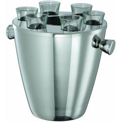 Chladiaca nádoba na ľad s pohárikmi