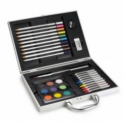 Sada na maľovanie v kovovom kufríku 34 kusov
