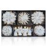 Vianočné slamené dekorácie perleťové