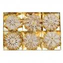 Vianočné slamené hviezdičky - zlaté 24 kusov