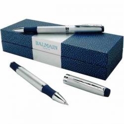 Značková súprava Balmain - kovové pero, roller v darčekovom balení