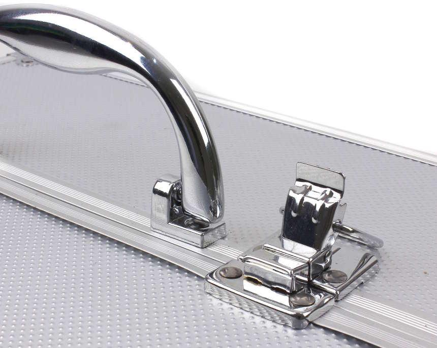 Detail na zatváranei kozmetického kufríka pre ženy