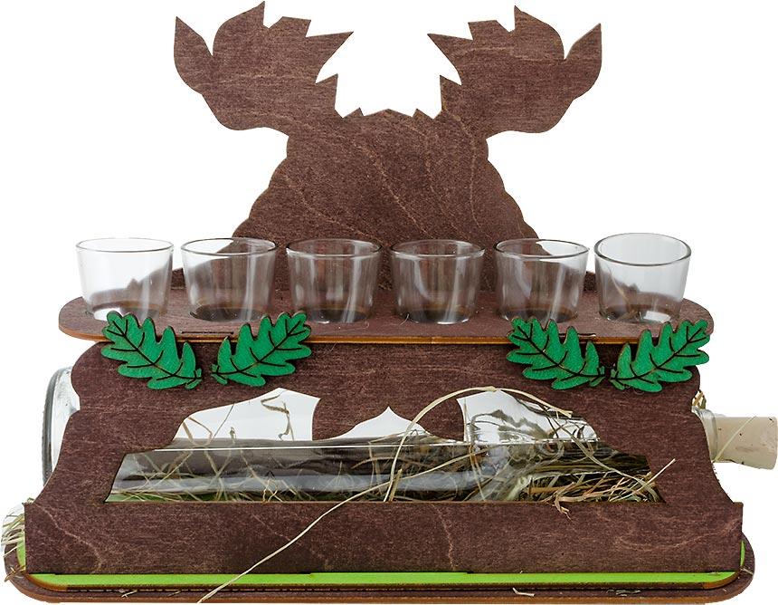 Detail na zadnú stranu darčeka pre poľovníkov