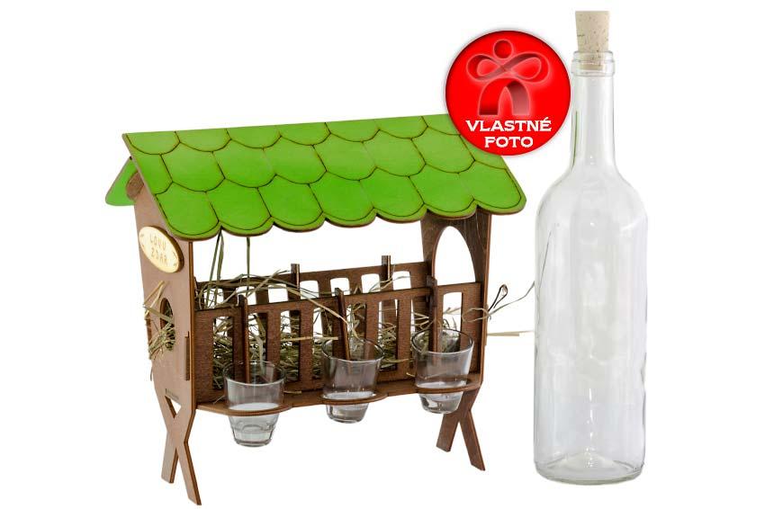 Detail na vybratú fľašu s darčeka pre poľovníkov