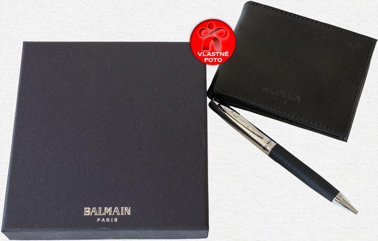 Pero a peňaženka Balmain s darčekovou krabičkou