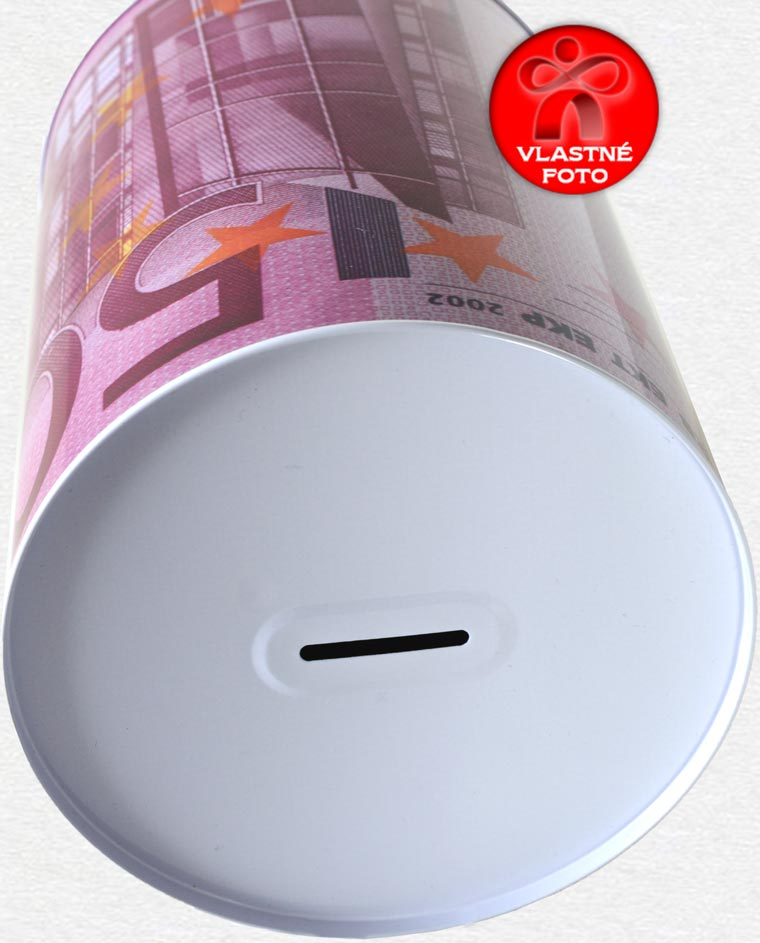 Europokladnička 500 EUR z hornej strany