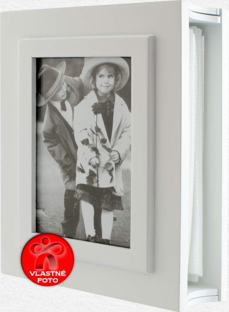 Biely album na fotografie 13 x 18 cm otvorený