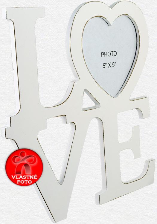 Fotorámik Love detail z bočnej strany