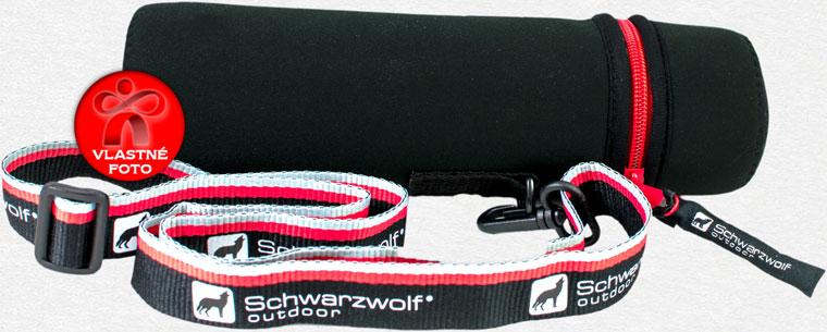 Neoprénové púzdro termosky Schwarzwolf s detailom na zips a popruh