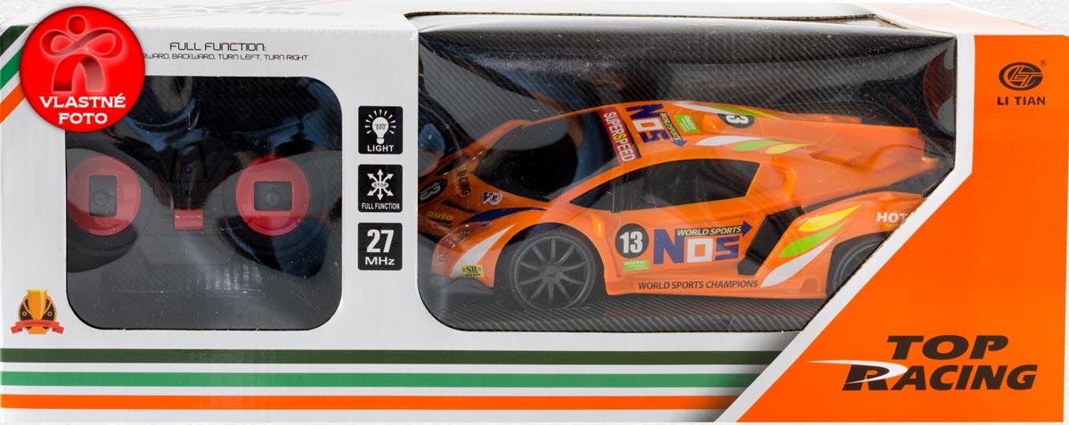 Darčekové balenie oranžového auta na diaľkové ovládanie